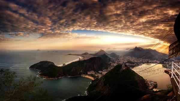 05.リオデジャネイロの海辺の街並みを撮影した美しい写真壁紙画像