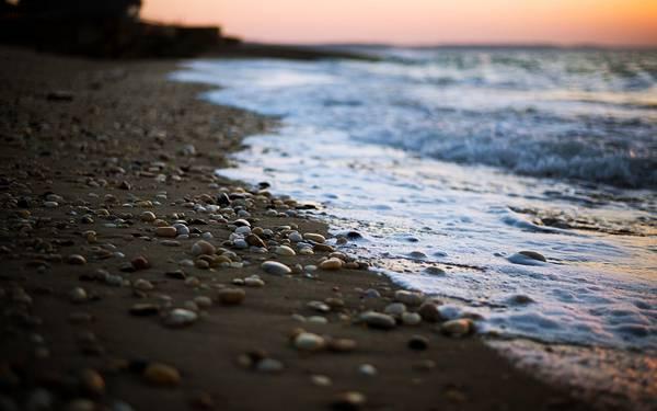 11.海辺のたくさんの石を浅い被写界深度で撮影した美しい写真壁紙画像