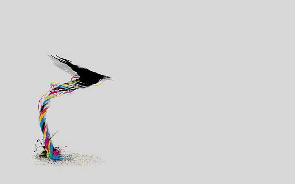 11.CMYKでデザインされた竜巻のイラスト壁紙画像