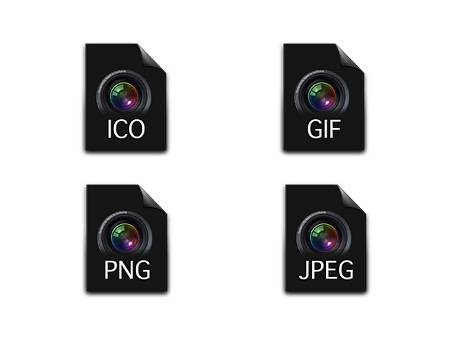 Set Icons Aperture Image File Icons Set