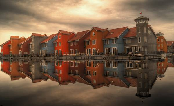 Beautiful Colourful houses in The Netherlands