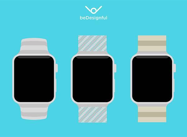 Apple Watch Flat Template