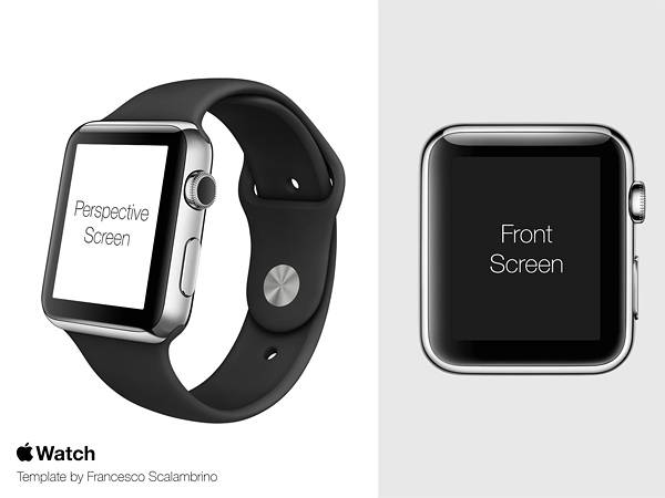 Apple Watch Free Template PSD