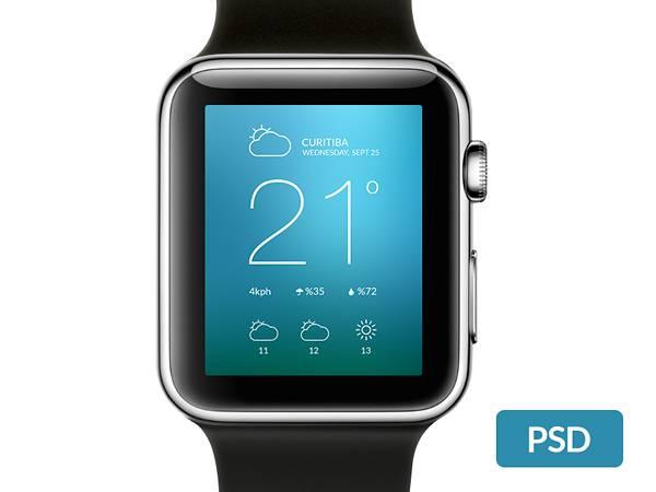 Apple Watch Free Template PSD