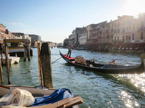 Gondola ride in Venice, Italy.