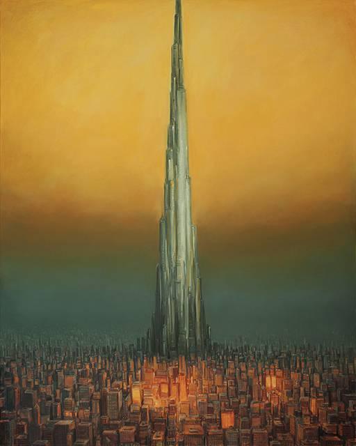産業の発達した人間社会を超精密な描き込みでシュールに描く絵画作品 - 07