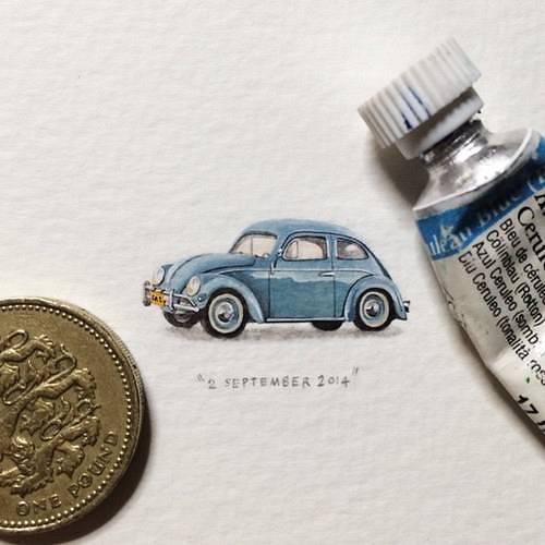 ほぼコインサイズのミニチュア絵画が可愛くて美しい! - 05