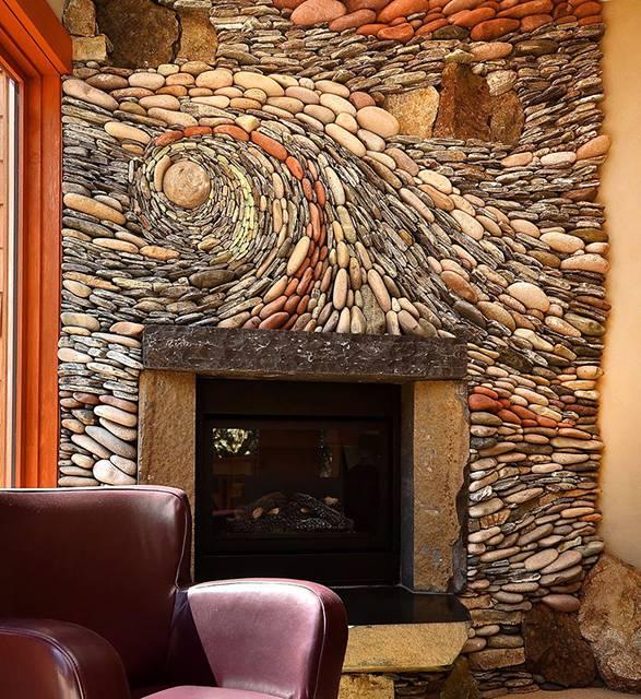 石を敷き詰めて作る美しいモザイク壁画 - 09
