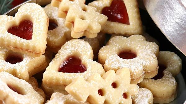 10.ジャムの入ったクリスマスクッキーの美味しそうな写真壁紙画像