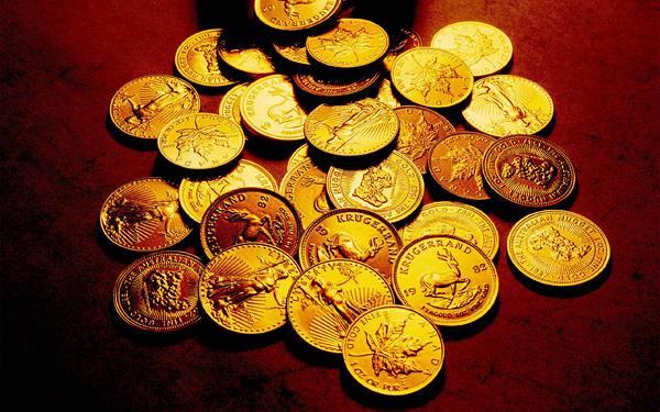 05.たくさんのコインを撮影したリッチな写真壁紙画像