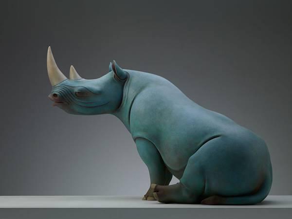 まるで神話の中の生き物達が目の前に現れたような彫刻作品。 - 04