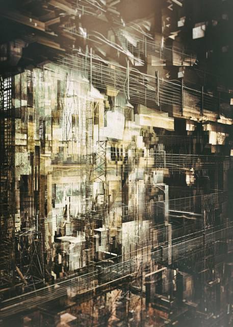 「建築」を抽象芸術に昇華させたデジタルイラストレーション - 01