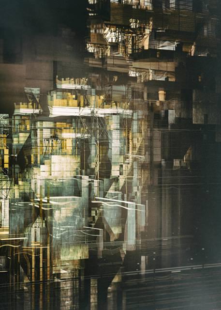 「建築」を抽象芸術に昇華させたデジタルイラストレーション - 04