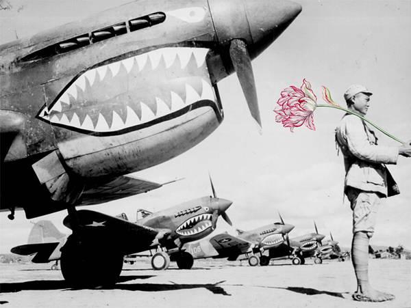 「銃を花に置き換えてみた」という美しいコラージュアート - 05
