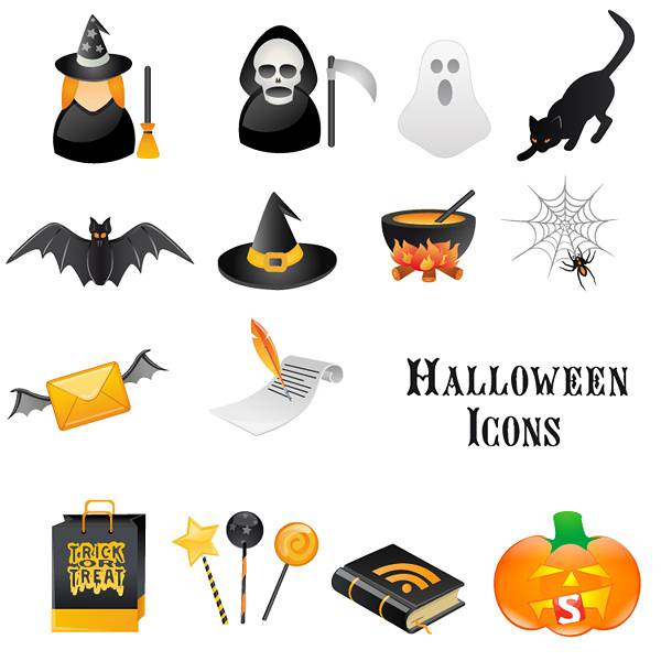 A Free Halloween Vector Icon Set