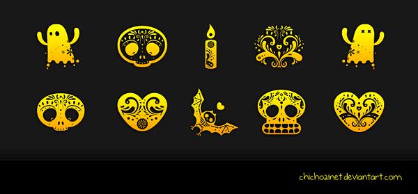 Dia de Muertos Dock Icons