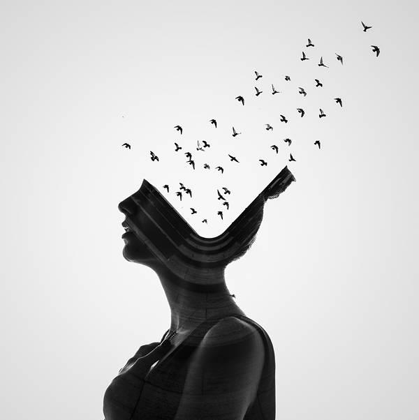 人と自然を多重露光で合成したポートレート写真作品 - 02