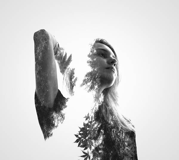 人と自然を多重露光で合成したポートレート写真作品 - 04