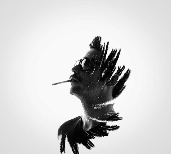 人と自然を多重露光で合成したポートレート写真作品 - 09