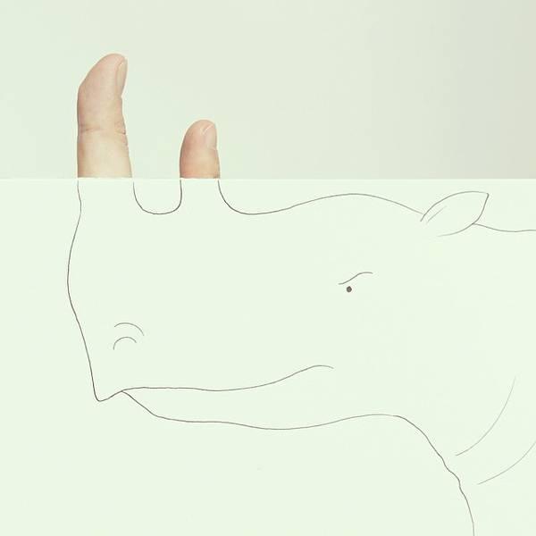 指とイラストのコラボレーション!遊び心いっぱいの楽しい動物イラスト - 04