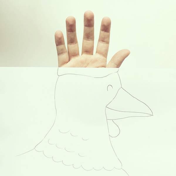 指とイラストのコラボレーション!遊び心いっぱいの楽しい動物イラスト - 05