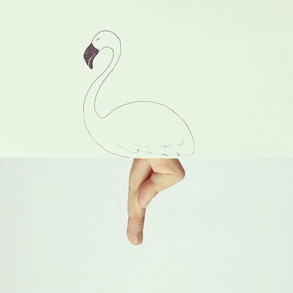 指とイラストのコラボレーション!遊び心いっぱいの楽しい動物イラスト - 08