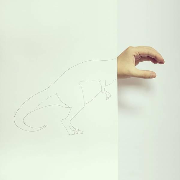 指とイラストのコラボレーション!遊び心いっぱいの楽しい動物イラスト - 10