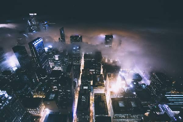 霧に包まれたシカゴの街を撮影した写真集 - 01