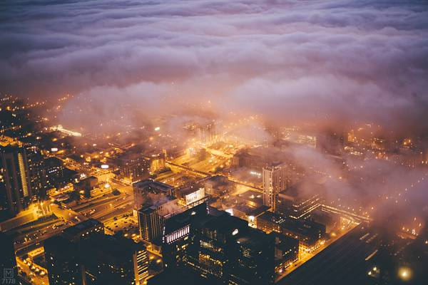 霧に包まれたシカゴの街を撮影した写真集 - 02