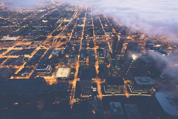 霧に包まれたシカゴの街を撮影した写真集 - 04