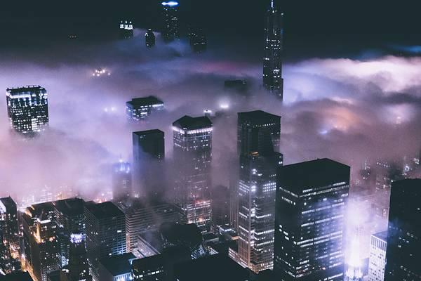 霧に包まれたシカゴの街を撮影した写真集 - 05