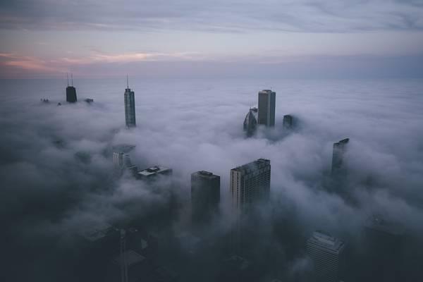霧に包まれたシカゴの街を撮影した写真集 - 08