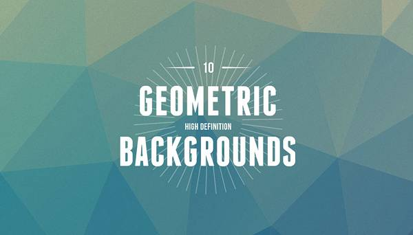 Awesome low-poly PSD backgrounds