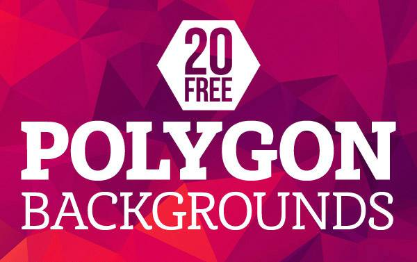 20 Free High-Res Geometric Polygon Backgrounds