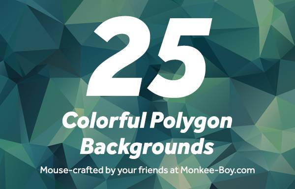 Freebie Friday: 25 Colorful Polygon Backgrounds