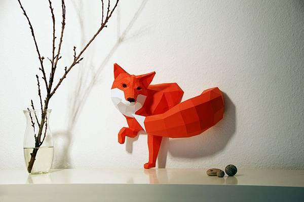 動物たちのローポリゴン風ペーパークラフトアート - 01