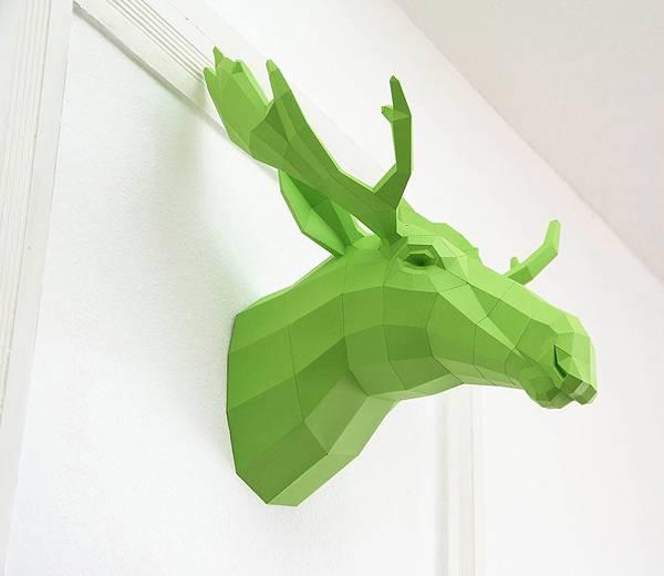 動物たちのローポリゴン風ペーパークラフトアート - 04