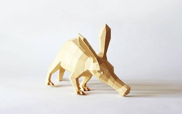 動物たちのローポリゴン風ペーパークラフトアート - 06