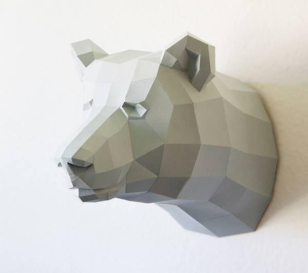 動物たちのローポリゴン風ペーパークラフトアート - 08