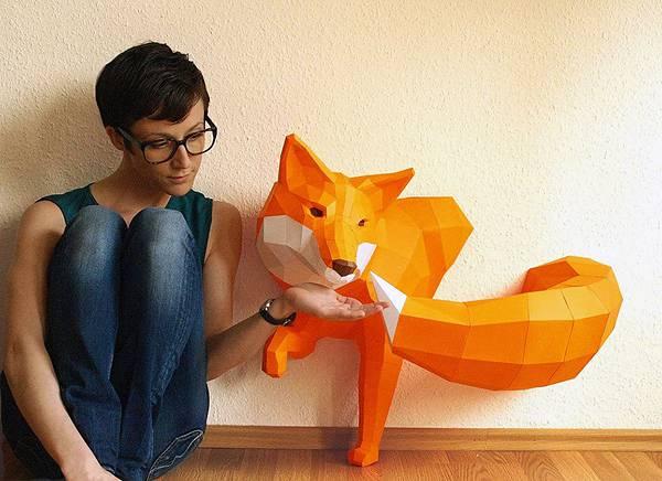 動物たちのローポリゴン風ペーパークラフトアート - 10