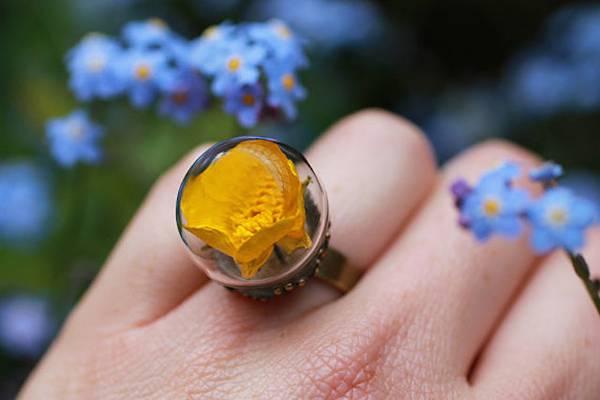 花や植物をガラスに閉じ込めたアクセサリー - 07