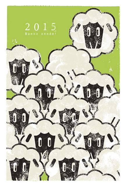 年賀状2015 No.14: Sheep!Sheep!Sheep!