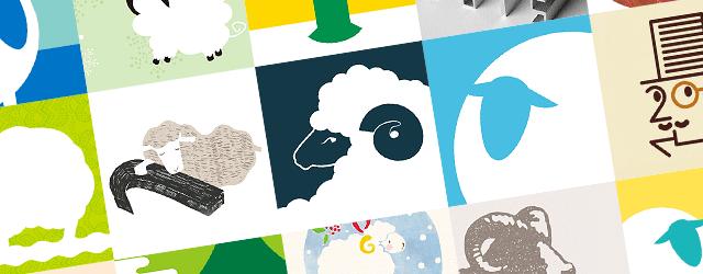 【2015未年賀状】シンプルでおしゃれな無料イラストテンプレート集(羊・文字・花)