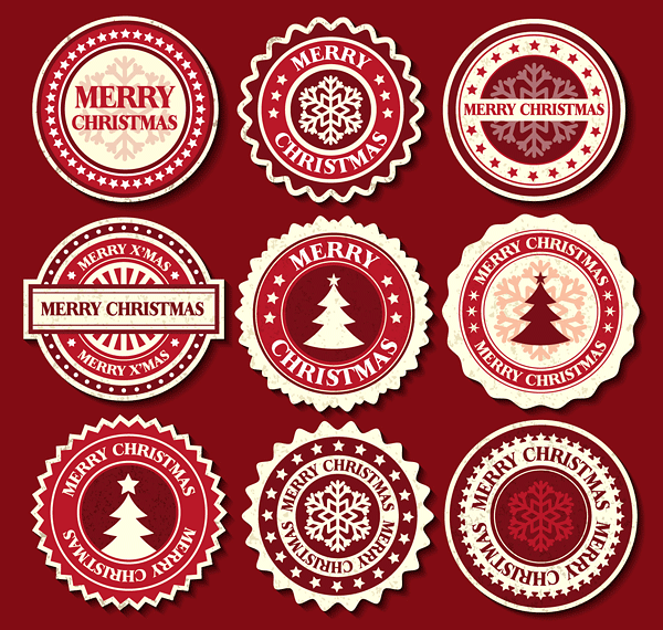 Festival Style elements label vector 02