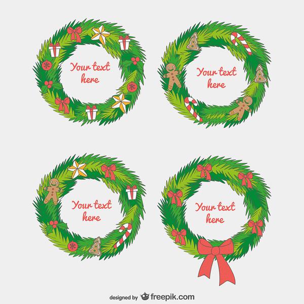 Christmas garland templates