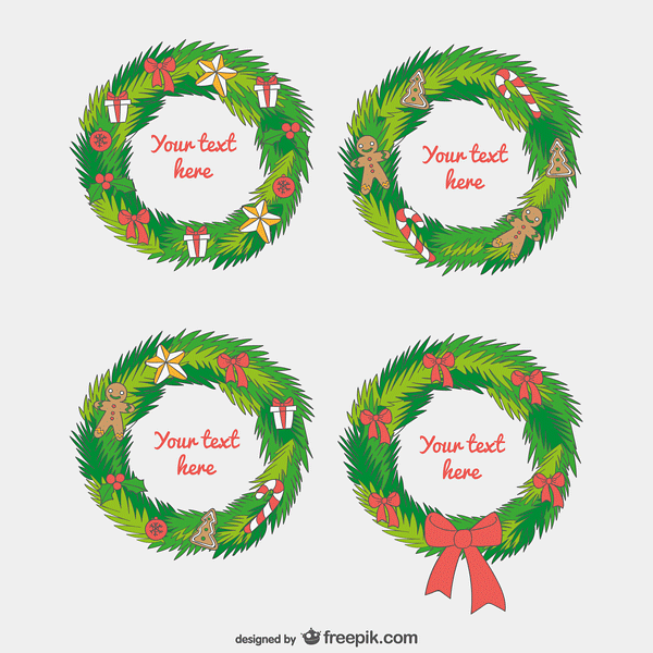Christmas garland templates