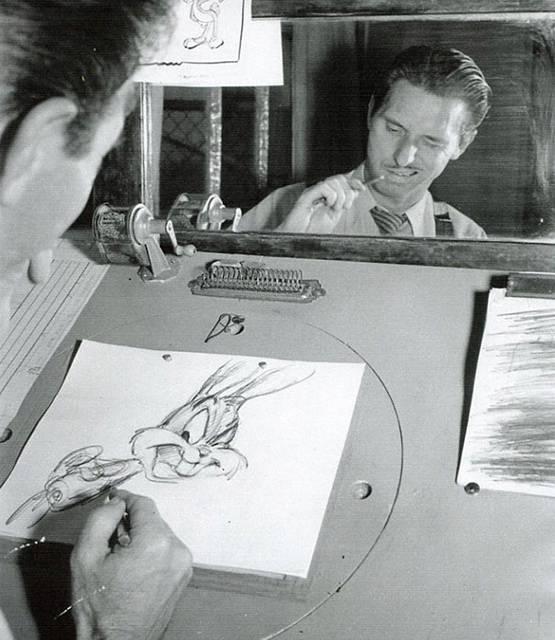 自分の顔を鏡で見ながら描くディズニーアニメーター達 - 07