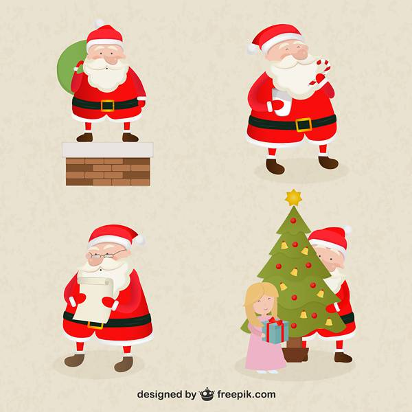 Santa Claus cartoons pack
