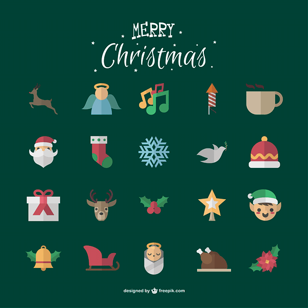 Cute Christmas icons pack