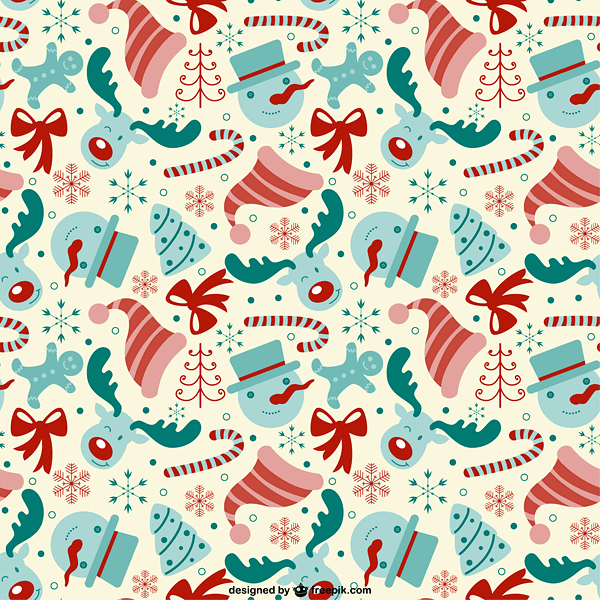Editable pattern with Christmas elements